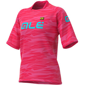 Alé Cycling Off-Road MTB Rock SS Jersey Women strawberry/turquoise